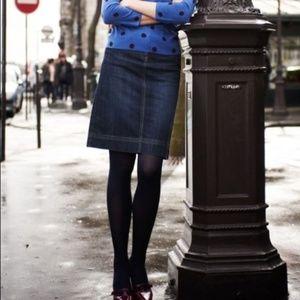 Boden denim jean skirt midi knee length Tall Long